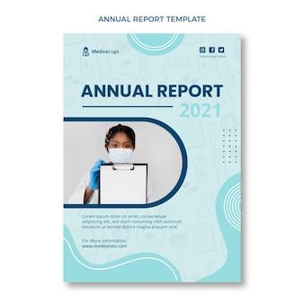 Handgetekende sjabloon voor medisch jaarverslag