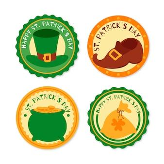 Handgetekende st. patricks dag badges