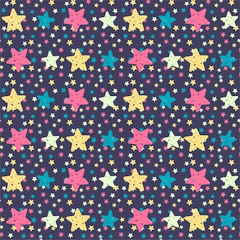 Handgetekende sterren naadloze patroon achtergrond