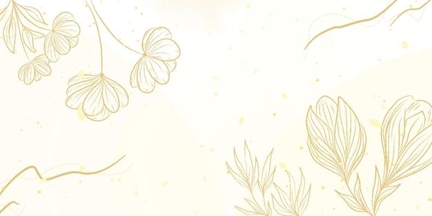 Handgetekende stijl aquarel bloemen achtergrond