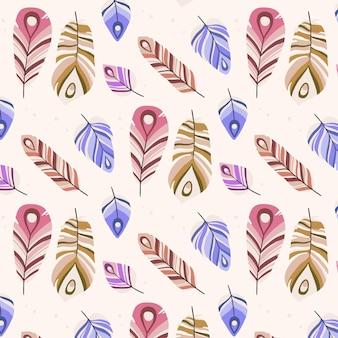 Handgetekende stijl boho patroon