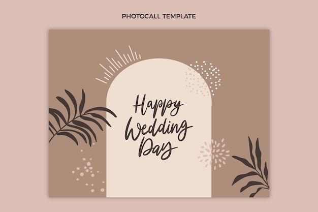 Handgetekende stijl bruiloft photocall