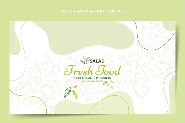 Handgetekende stijl voedsel twitch achtergrond
