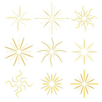 Handgetekende sunburst-collectie