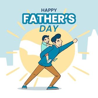 Handgetekende vaderdagontwerp
