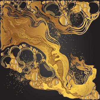 Handgetekende vector marmeren abstracte achtergrond