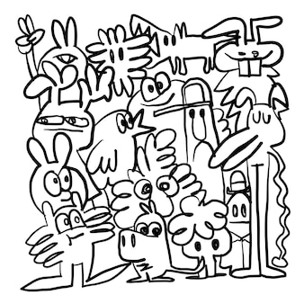 Handgetekende vectorillustratie van doodle, illustrator lijnhulpmiddelen tekening