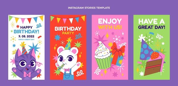 Handgetekende verjaardag instagramverhalen