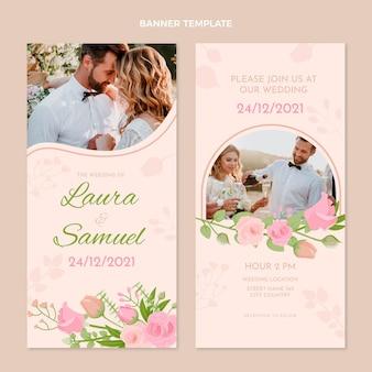 Handgetekende verticale banners voor bruiloften