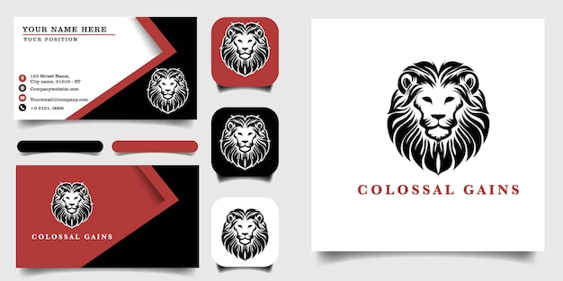 Handgetekende vintage logo sjabloon en visitekaartje