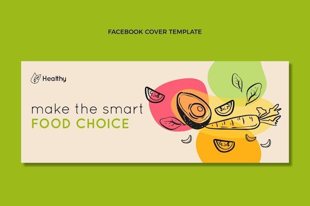 Handgetekende voedsel facebook-omslag
