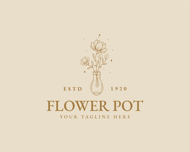 Handgetekende vrouwelijke schoonheid minimale bloemen botanische logo sjabloon voor spa salon huid haarverzorging