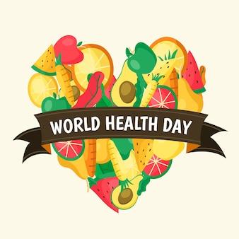 Handgetekende wereld gezondheid dag ontwerp