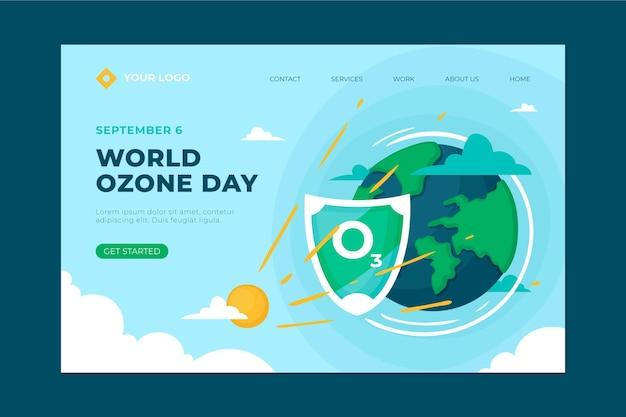 Handgetekende wereld ozon dag bestemmingspagina sjabloon