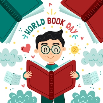 Handgetekende wereldboekendag