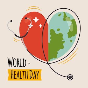 Handgetekende wereldgezondheidsdag