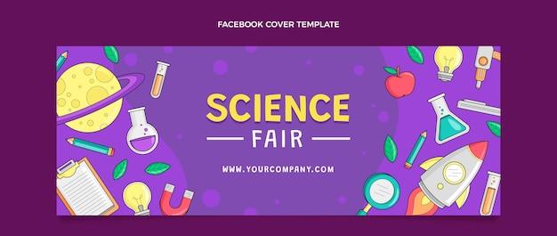 Handgetekende wetenschap facebook-omslag