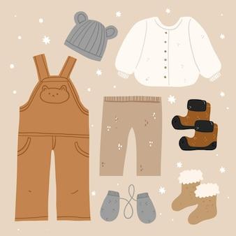 Handgetekende winterkleding en essentials-collectie