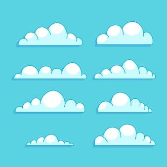 Handgetekende wolk in de lucht-collectie