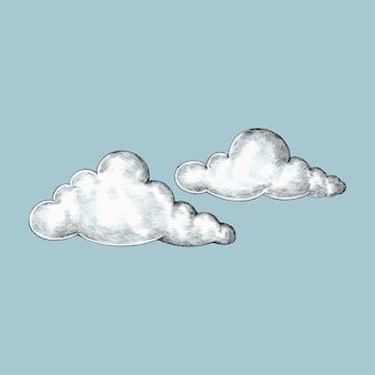 Handgetekende wolken illustratie