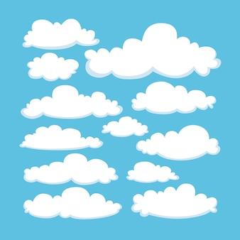 Handgetekende wolkencollectie