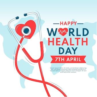 Handgetekende workd gezondheidsdagviering