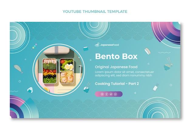 Handgetekende youtube-miniatuursjabloon voor eten