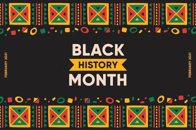 Handgetekende zwarte geschiedenis maand illustratie