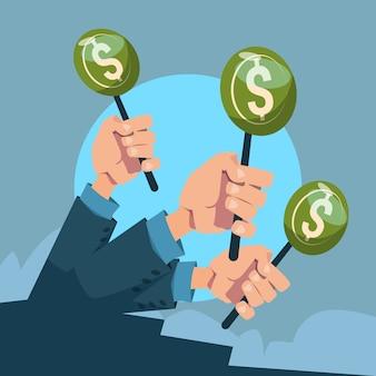 Handgroep houdt groen geld vast