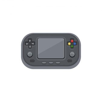 Handheld gameconsole. elektronisch spel met het scherm, knoppen, schuifregelaar.