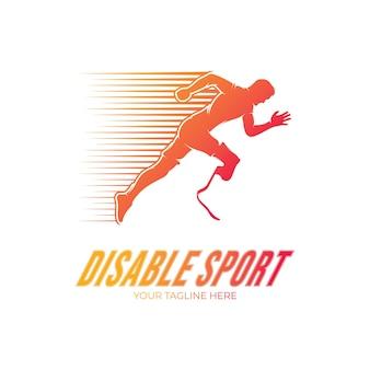Handicap runner sportcompetitie logo ontwerp
