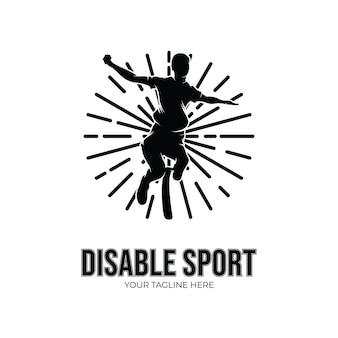 Handicap sport competitie logo ontwerp