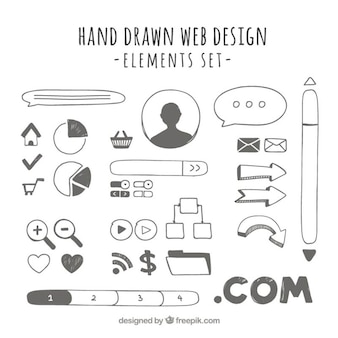 Handige hand getekend web elementen
