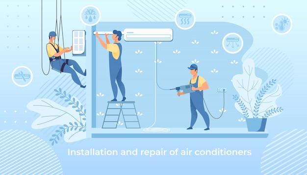 Handige mannen installatie en reparatie airconditioner