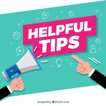 Handige tip concept met een plat ontwerp