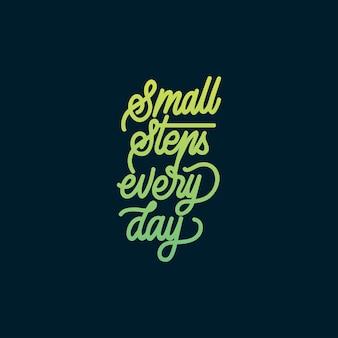 Handlettering typografie kleine stappen elke dag