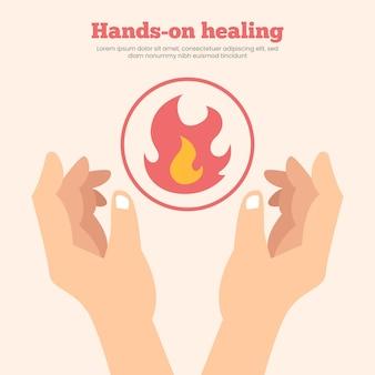 Hands-on healing sjabloonontwerp