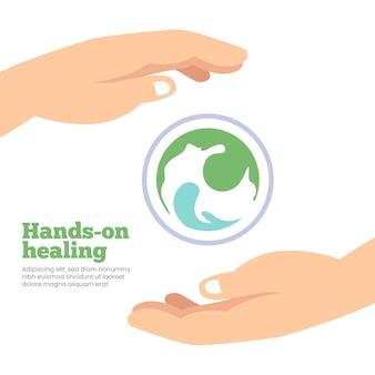 Hands-on healing sjabloonstijl