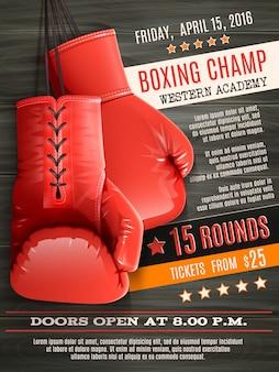 Handschoenen boksen poster