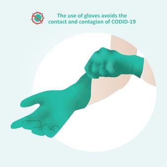 Handschoenen coronavirus