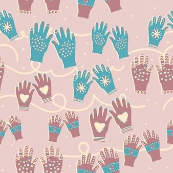 Handschoenen naadloos patroon