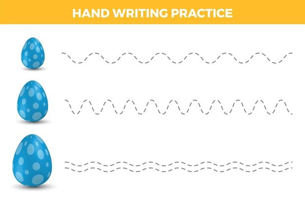 Handschrift oefenblad. eenvoudig schrijven. educatief spel voor kinderen. trainingswerkblad.