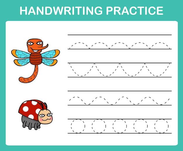 Handschrift oefenblad illustratie vector