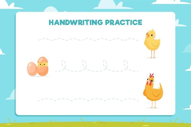 Handschriftoefening voor kinderen