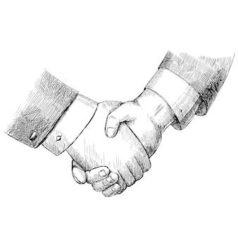 Handshake achtergrond ontwerp