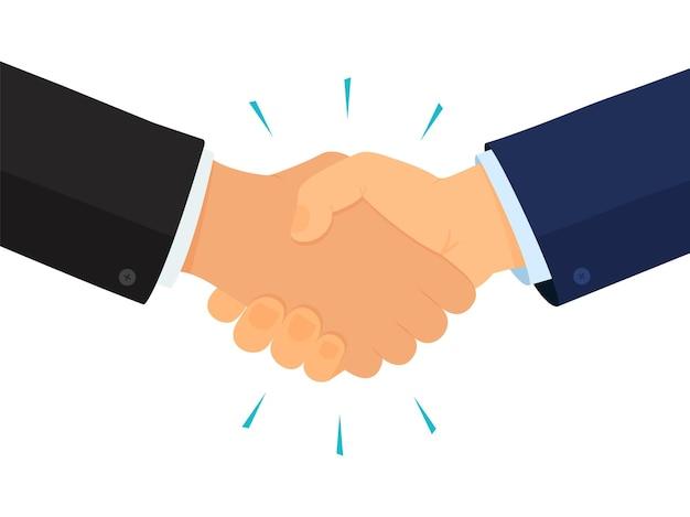 Handshake zakelijke partners overeenkomst en deal