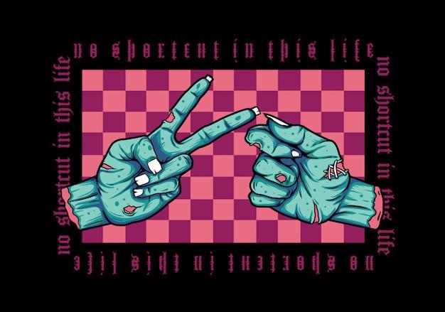 Handshake zombie illustratie