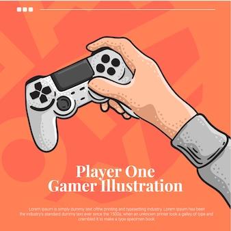 Handspel met joystick