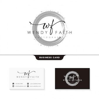 Handtekening logo ontwerpsjabloon