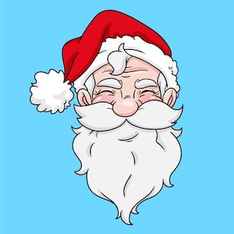 Handtekening van santa klaus in cartoonstijl